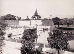 The Western Main Gate to the Royal City, [Mandalay]